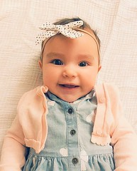Baby Juliet (tduaneparker) Tags: family iphone smile pretty granddaughter portrait baby