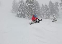 Max getting stylish in the powder on a big storm day (benjaminfish) Tags: heavenly ski kid powder tahoe lake winter february 2019 volkl critical grab gunbarrel snow