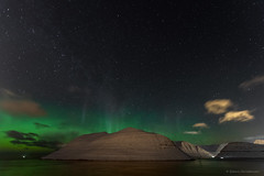 Aurora borealis over Kalsoy, Faroe Islands (Esbern Christiansen) Tags: landscape nature norðlýsið aurora auroraborealis borealis calm dark faroe faroeislands føroyar kalsoy light lights mountain mountainside night northernlights ocean outdoor sea sky snow stairs star stars visitfaroeislands visitnordoy water waterfront