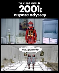 THE ORIGINAL ENDING TO 2001 : A SPACE ODYSSEY (DarkJediKnight) Tags: 2001aspaceodyssey 2001 dave david bowman keirdullea grady twins theshining stanleykubrick hotel room humor parody spoof fake
