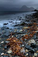 Red on Black (calderdalefoto) Tags: scotland hebrides skye isle elgol beach mountains sea mood drama