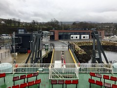 Onboard view of Brodick ferry terminal. (Dave Russell (1 million views thanks)) Tags: onboard iphone travel ferries boat ship isles caledonian calmac vessel motor mv harbour harbor terminal ferry new arran island isle brodick
