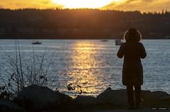 Sunsets & Parkas (Clayton Perry Photoworks) Tags: vancouver bc canada winter explorebc explorecanada sunset englishbay silhouette people