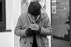 Smoke (K.BERKİN) Tags: turkey tourism human oldman people portrait street streetphoto streetphotograpy homeless life leica blackwhite istanbul city beyoglu mirroless man