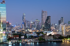 Mahanakhon and the Cityscape of Bangkok (aey.somsawat) Tags: bangrak bangrakfirestation bangkok chaophrayariver cityscape iconsiam mahanakhon twilight viewpoint