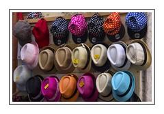 Hats (Audrey A Jackson) Tags: canon60d spain cadiz hats shop colour