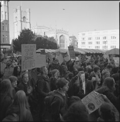 School Strike 4 Climate Change (steve-jack) Tags: hasselblad 501cm 50mm cfi kodak trix 400 film 120 6x6 medium format perceptol epson v500 march school children cambridge climate change dayoff students strike climatestrike protest schoolstrike4climate