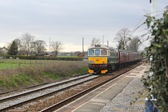WCR BLS 1Z87 'The Ruby Vampire - 2nd Bite' railtour passes Hoscar Station level Crossing 24th  March 2019 with BRCW Crompton Type 3 No. D6515 'Lt Jenny Lewis RN' tailing © (steamdriver12) Tags: wcr bls 1z87 the ruby vampire 2nd bite railtour passes hoscar station 24th march 2019 brcw crompton type 3 no d6515 lt jenny lewis rn branch line society west coast railways lancashire england diesel electric heritage traction
