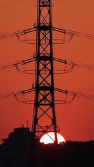 Sunset (feldweg2008) Tags: gittersteigen steeltower sky sunset klettern arbeiten geschichte urban industrie latticeclimb art abend tag strommast sendemast turm torre tower bauwerk konstruktion latticeclimbing gittersteiger towerclimbing lineman germany usa travel awesome grid pylon power climb lattice geschichten strommasten abstrakt energie