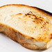 Toasted Bread on the White Plate
