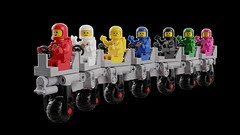 Febrovery 2019 07 (David Roberts 01341) Tags: lego ldd mecabricks rover classicspace spacemen happy waving toy