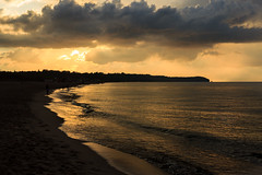 Light on the water (lukasz.soszynski) Tags: 2018 goldenhour landscape sunset see moody clouds baltic outdoor władysławowo sky dusk color light shore poland waves