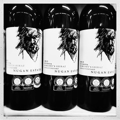 Scruffy's Shiraz (JulieK (thanks for 8 million views)) Tags: 100xthe2019edition 100x2019 image38100 winelabel bottle squareformat hipstamaticapp centra 2019onephotoeachday bw monochrome