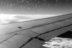 Athens-2019_03 (rhomboederrippel) Tags: rhomboederrippel casio exz80 february 2019 vie ath flight vienna athens airbus a320 sxdvr aegeanairlines monochrome bw windowseat wing clouds