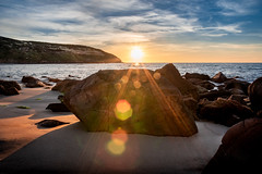 Sunset in places you know more than each others, becomes so powerful (Nicola Ferro) Tags: sardegna sardinia mare sea seascape winter photography nikon photo passion landscape nature lens flare sky sunset