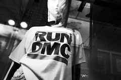 """RUN DMC"" (Eric Flexyourhead) Tags: vancouver canada britishcolumbia bc downtown granvillestreet city urban detail fragment topshop shop store window display windowdressing mannequin tshirt rundmc monochrome grainy gritty highcontrastbw blackwhite bw ricohgr"