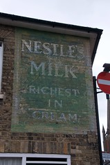 Nestle's Old Sign (Martin Pettitt) Tags: 2019 burystedmunds cannonstreet dslr march nestles nikond90 outdoor sign spring suffolk town uk