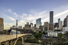 609 Main at Texas Skyline-Main Street Bridge No 1 (Mabry Campbell) Tags: 609mainattexas harriscounty hines houston pickardchilton texas usa architecture building downtown image photo photograph skyline skyscraper tower train f71 mabrycampbell march 2019 march272019 20190327609campbellh6a6560 24mm ¹⁄₃₀sec 100 tse24mmf35lii