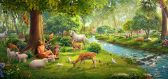Dio restaurerà il precedente stato della creazione (eshao5721) Tags: alberi fiume animale lachiesadidioonnipotente dioonnipotente