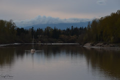 Bedford Channel - Fort Langley (SonjaPetersonPh♡tography) Tags: fortlangley bedfordchannel fraserriver channel scenery scenic landscape waterscape riverscape dusk sailboat reflections waterreflections nikon nikond5300 nikonafsdxnikkor18300mmf3556gedvr clouds bc canada townshipoflangley serene river