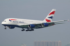 BA A388 G-XLEF @ BA031 (EddieWongF14) Tags: britishairways airbus airbusa380 airbusa380800 airbusa380841 a380 a388 a380800 a380841 gxlef hkg vhhh hongkonginternationalairport t2skydeck