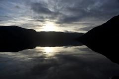 Low Winter Sun (steve_whitmarsh) Tags: aberdeenshire scotland scottishhighlands highlands water loch lochmuick lake reflection mountain hills cloud silhouette topic abigfave