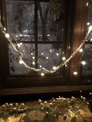 Lights Brighten Winter Nights  (30) (newenglandgal) Tags: lights window christmas reflection 365 garland 119in2019