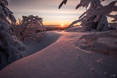 Voila le soleil qui va nous réchauffer (Manonlemagnion) Tags: nature paysage froid hiver winter blanc orange givre neige vosges troisfours hohneck lumière sunrise leverdusoleil nikond810 1635mmf4