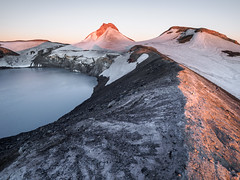 A New Day (blue polaris) Tags: new zealand mount mt ruapehu summit crater lake volcano paretetaitonga dome glacier mountain sunrise landscape
