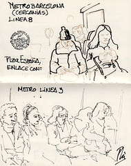 Metro (Fotero) Tags: usk urbansketch urbansketcher urbansketching tinta dibujo arte art pluma estilografica sketchbook cuaderno cuaderno19