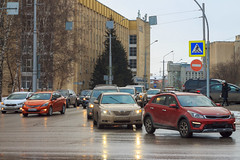 Evening traffic in Kemerovo city (man_from_siberia) Tags: kemerovo city street siberia russia cars road february urban город кемерово сибирь россия улица дорога автомобили canon eos 1100d dslr canoneos1100d canon1100d canonrebelt3 canoneoskissx50 helios442 гелиос442 helios442258 manualfocus manualfocuslens