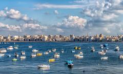 Alexandria's Eastern Harbour, Egypt (Nadia Rifaat) Tags: alexandria egypt mediterranean sea boats skyline clouds outdoors winter nikon d5300 18140mm