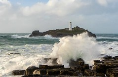 Storm Freya (Explore) (Coless66) Tags: cornwall sony 2470mm lighthouse godrevy sorm freya coastal waves seascape westcountry beautiful lizcolesphotography rain windy sea clouds rocks sun aqu mindfulness tranquility travel