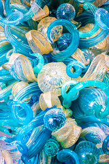 Blues and Whites (Thomas Hawk) Tags: america california chihuly crockerartmuseum dalechihuly museum sacramento usa unitedstates unitedstatesofamerica sculpture us fav10