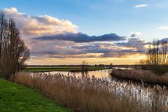 Clouds above the river (jan.vd.wolf) Tags: baarn utrecht nederland nl amersfoort river landschap landscape rivier wolken clouds water natuur nature grass gras sunset zonsondergang eem