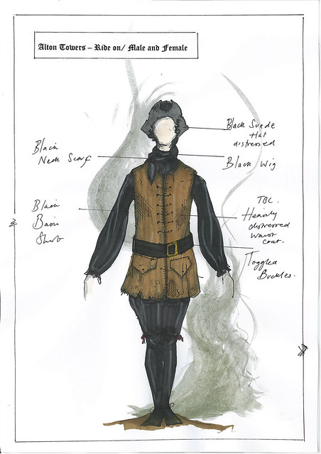 Dungeon Costume Drawings 5