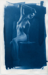 Cyanotype001.jpg (Iain Compton) Tags: sexy contactprint portrait cyanotype monochrome nude lingerie paperprint girl model boudoir studio beauty alternativeprocess