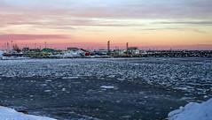 Floating Ice (Danny VB) Tags: floatingice floatingsnow snow ice winter sunset granderivière gaspésie québec canada ocean atlantic navidad christmas noel