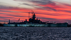 """The """"Mighty A"""" (jamesthehornplayer) Tags: uss alabama mighty a battleship memorial park mobile al sunset water museum wwii world war two us navy ussalabama watermove smileonsaturday"""
