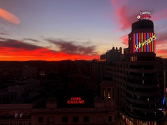 Sunset in Madrid. (qmdaniela) Tags: colours skyline atardecer sunset españa spain madrid
