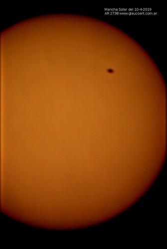 Mancha Solar 10 Abril 2019 glaucoart