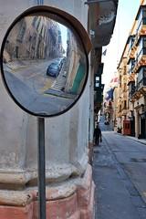 Malta Streets (Douguerreotype) Tags: mirror city people street buildings malta architecture valletta reflection urban