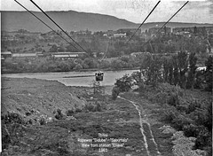 1961 Tbilisi: Ropeway Didube - Saburtalo (Irakli Zhozhuashvili) Tags: cable car ropeway seilbahn pendelbahn gondola aerial tramway outdoor tbilisi georgia tiflis teleferico lift funivia crash accident tragedy dead deadly incident mount mtatsminda saint amountain city building landscape тбилиси канатная дорога грузия road mountain railroad train tree monochrome architecture