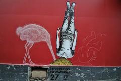 Matt Thieu + Jaë Ray Mie_9408 rue Vicq d'Azir Paris 10 (meuh1246) Tags: streetart paris animaux mattthieu jaëraymie ruevicqdazir paris10 expressionsidiomatiques autruche oiseau