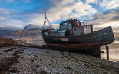 Corpach Wreck (avaird44) Tags: ship wreck sealoch mountains sky clouds fortwilliam corpach stones coastline