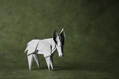 Donkey - Roman Diaz (pierreyvesgallard) Tags: origami roman diaz donkey animal paper folding papercraft burrito
