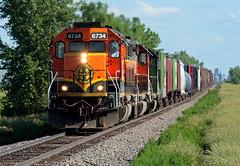BNSF 6734 Grand Forks 22 Jun 06 (AK Ween) Tags: bnsf bnsf6734 emd sd402 grandforks northdakota hillsborosub mdilgfd train railroad