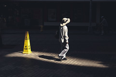 Wet Floor (Corey Rothwell) Tags: shadow shadows wet floor canon hatg hat light shaft