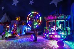 Big Wheel (MeKAiles Photographie) Tags: macro miniature décor décoration decoration christmas lights night long exposure nightshot nightview homemade led multicolore sony rx10m3 rx rx10 rx10iii bridge sensor 1 mekailes snowboy toys toy
