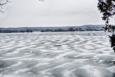 Ice Patterns (kendoman26) Tags: hss happyslidersunday illinoisriver ice icepatterns fotosketcher sonyalpha sonya6000 sonyphotographing sonyicle6000 selp1650